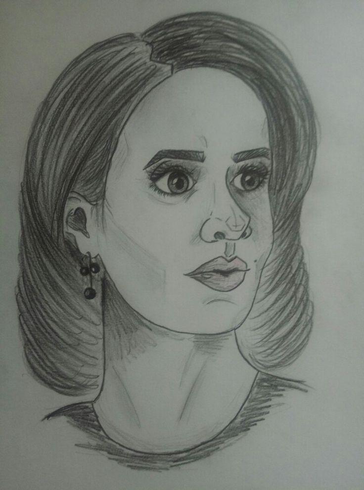 Sarah Paulson drawing  Lana Winters American Horror Story