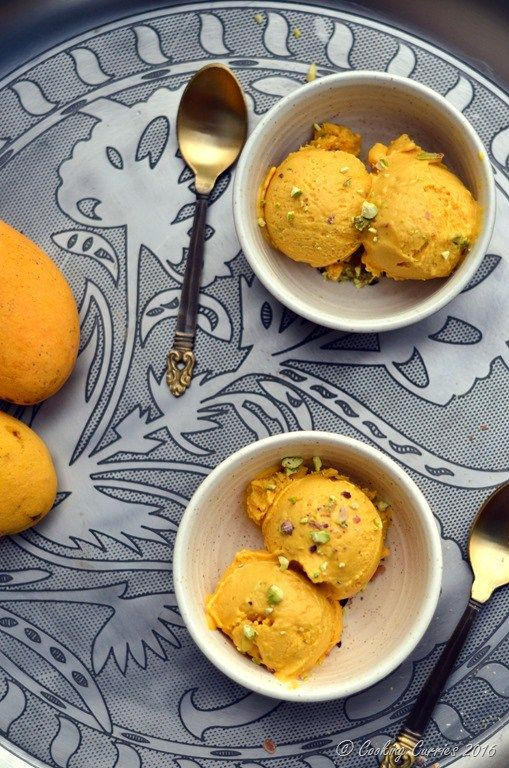 Vegan Mango Ice Cream with Pisachios - No Added Sugar - www.cookingcurries.com (6)