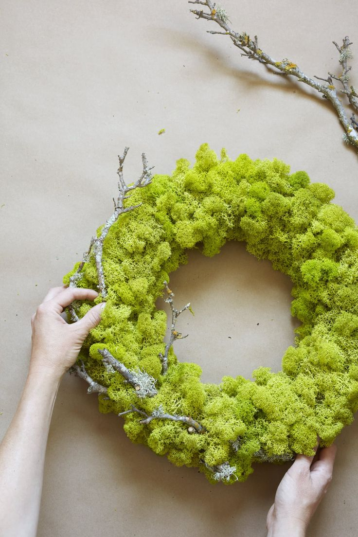 A DIY wreath from Caitlin Atkinson, the author of Plant Craft: 30 Projects that Add Natural Style to Your Home. Available in stores in October.