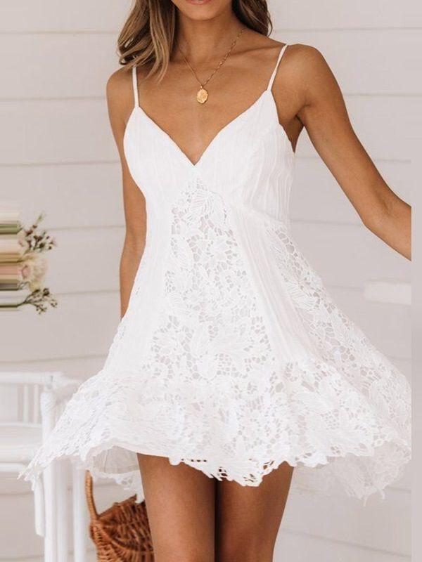 Damen Kleid Sommerkleid Retro Armellos Sommerkleid Modestil Sommer Kleider