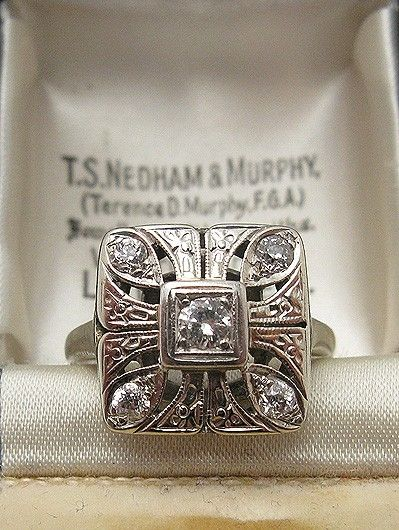 1920s Art Deco Diamond Ring by lilian #jewellery #ring #vintage