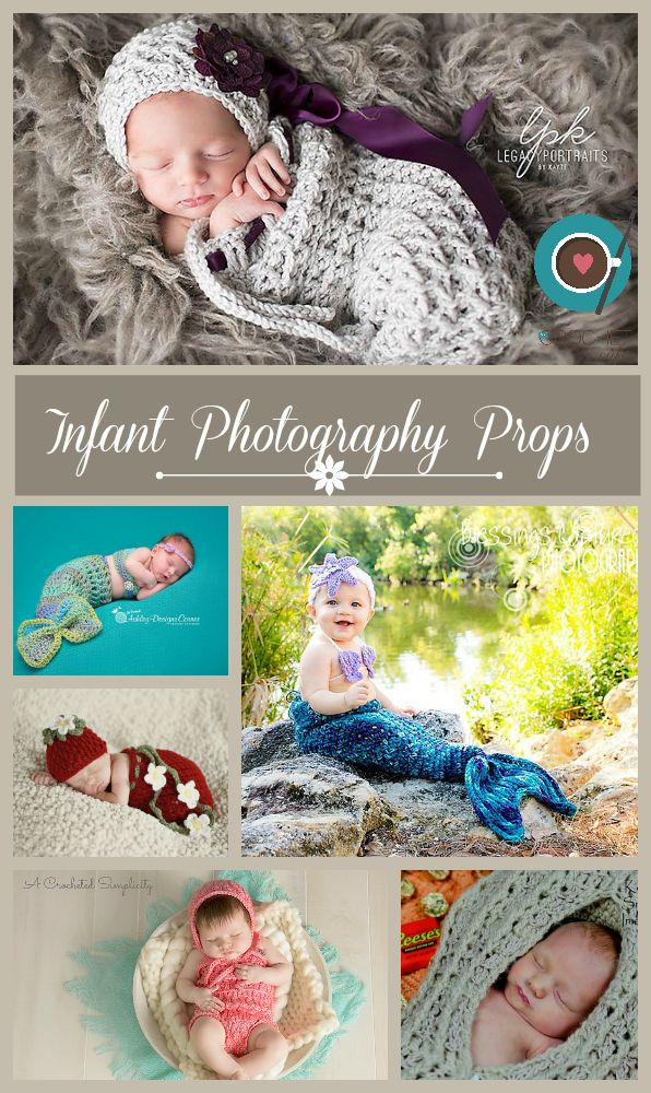 Gorgeous Crochet Patterns for Infant and Newborn Photography Props