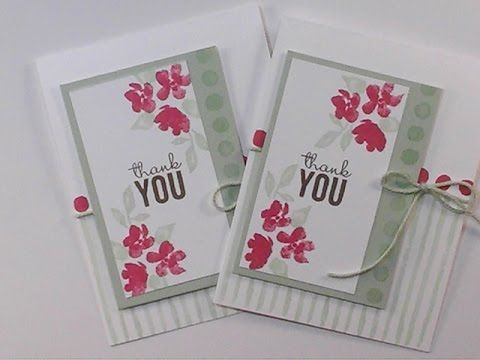 2015 Occasion Painted Petals Thank You Card