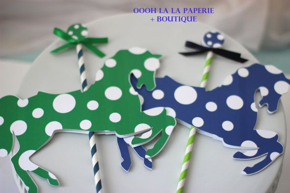 MerryGoRound Centerpiece Picks many colors by ooohlalapaperie, $8.50 The perfect whimsical Merry-Go-Round touch to add to your centerpiece, available in many colors. Lovely for a Mary Poppins Party!