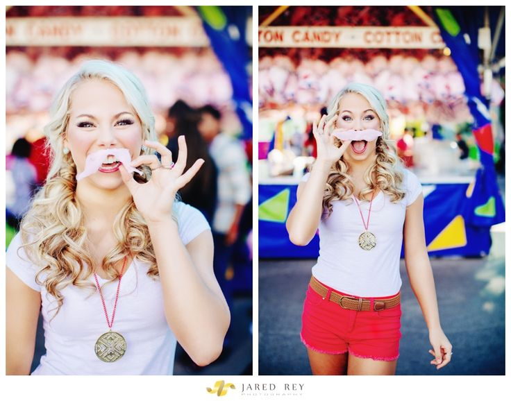 Cotton Candy Mustache. High School Senior Portrait Ideas. Destiny At The State Fair Of Texas // Photography by Jared Rey www.jaredrey.com