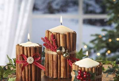 Como decorar velas navideñas