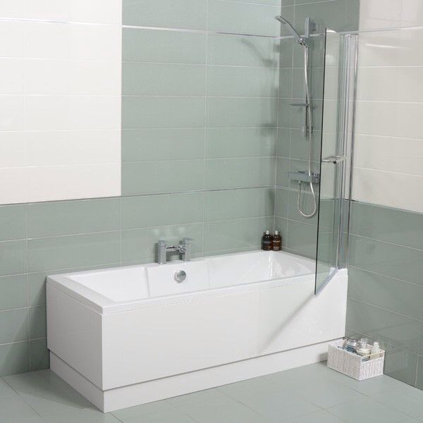 Shower Screen Fixed And Taps In Middle Extension Ideas