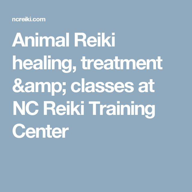 Animal Reiki healing, treatment & classes at NC Reiki Training Center