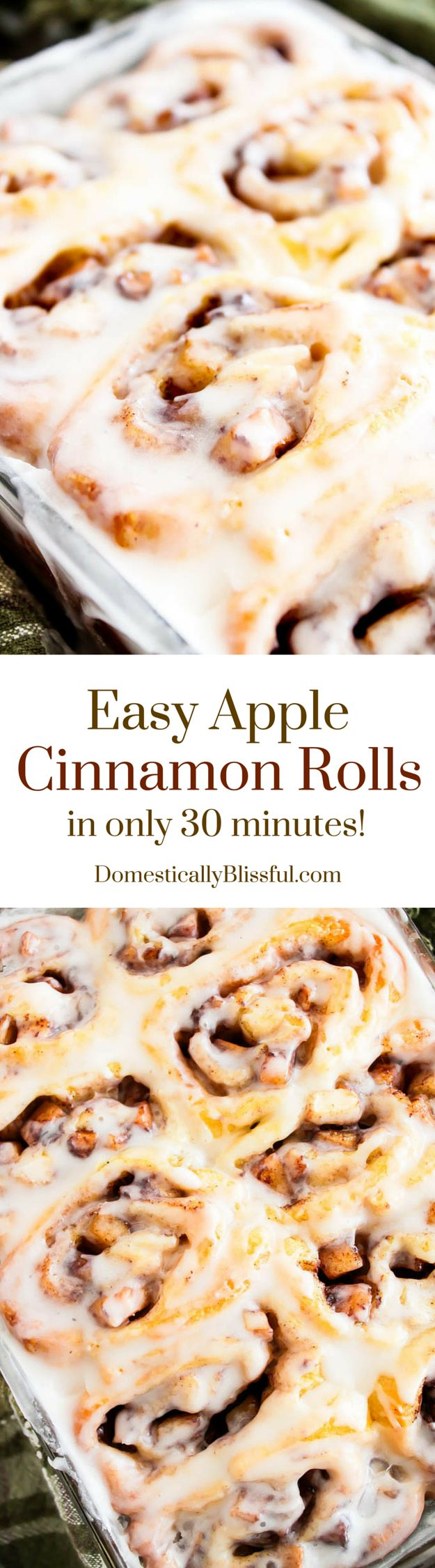 Easy Apple Cinnamon Rolls are a delicious fall treat that only need 30 minutes to make!