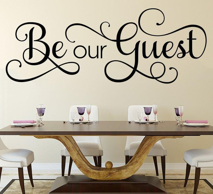 be our guest wall art sticker in 2020 kitchen wall on wall stickers for kitchen id=16862
