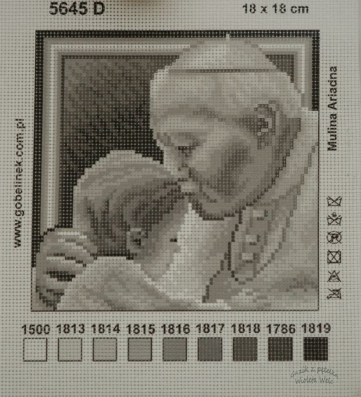 KANWA HAFT KRZYŻYKOWY 18 x 18 Papież Jan Paweł II - 3286911367 - oficjalne archiwum allegro