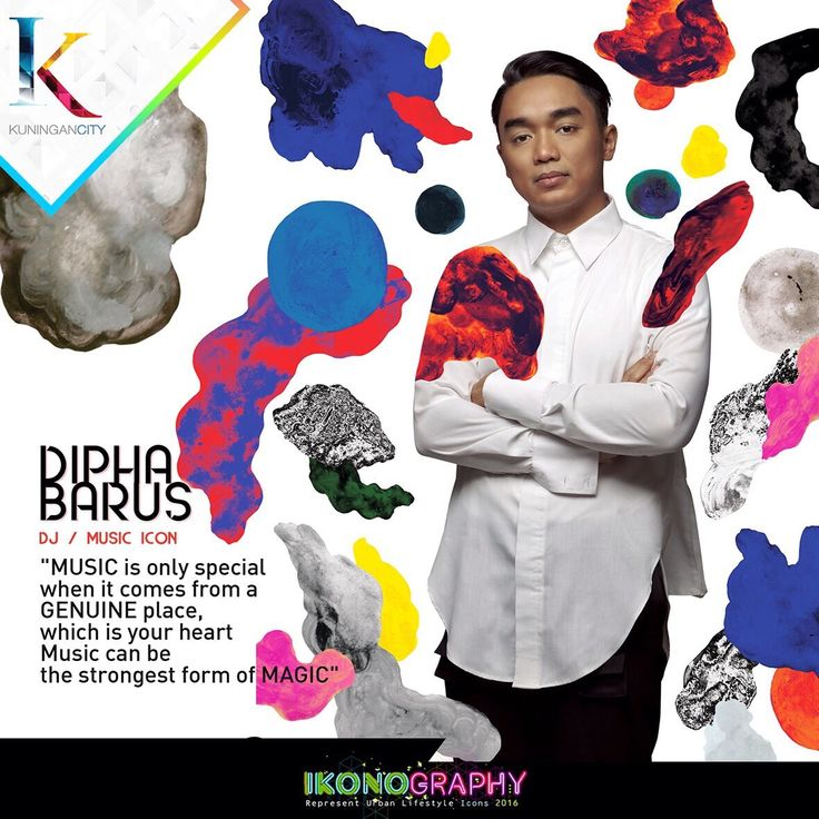 Dipha Barus DJ/Music Icon Ikonography 2016