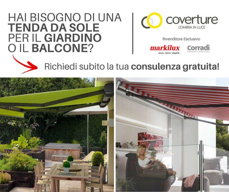 Hai bisogna di una tenda da sole per il tuo giardino o balcone? Clicca, scarica la guida in PDF e richiedi una consulenza GRATUITA!  #coverture #markilux #corradi