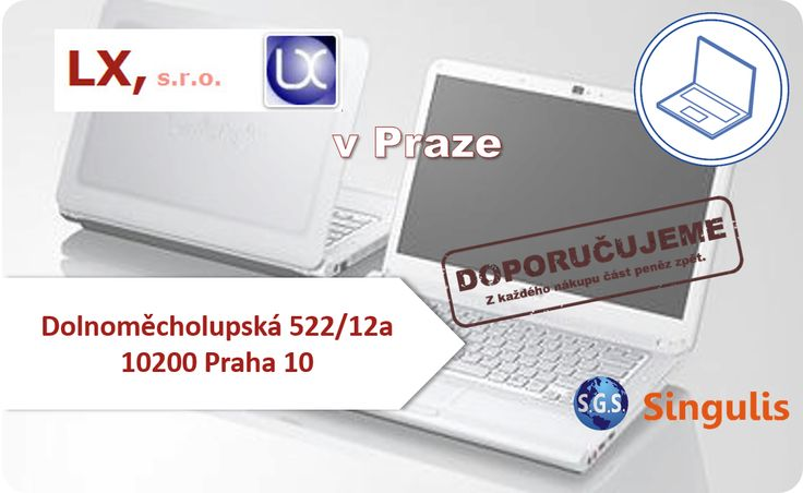 NOVÝ OBCHODNÍ PARTNER V PRAZE  LX - POČÍTAČE - SERVIS (4200527) Zajišťujeme kompletní počítačový servis, dodávky HW, SW, operačních systémů, spotřebního materiálu a příslušenství, instalujeme a spravujeme firemní i domácí počítačové sítě...  http://www.singulis.cz/pages/obchodnik.aspx?cla_id=21598