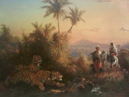 Raden Saleh - Mengintai