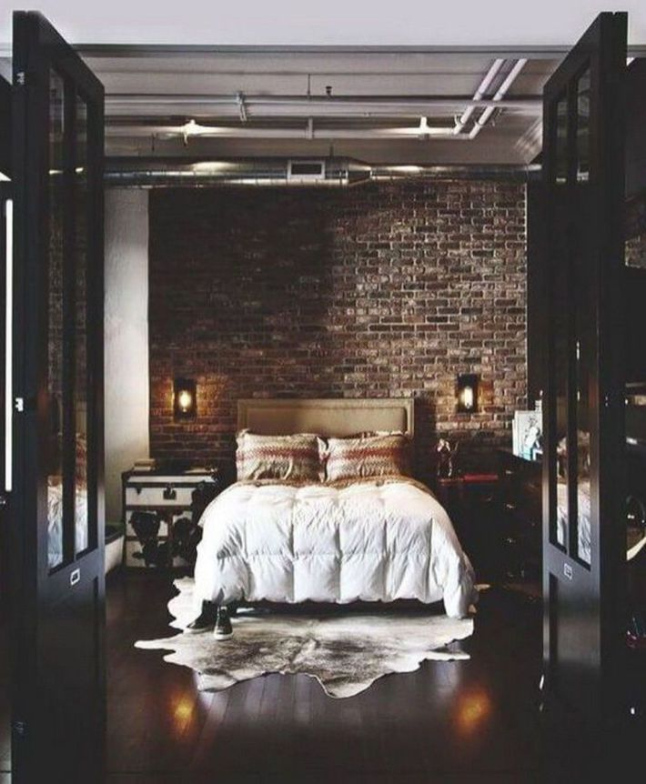 46 Masculine Apartment Decorating Ideas For Men Decoomo Com Remodel Bedroom Bachelor Pad Apartment Industrial Bedroom Design