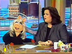 The Rosie O'Donnell Show was a nationally syndicated talk show hosted by comedian Rosie O'Donnell that ran from 1996 to 2002. The Sesame Street Muppets, mainly Elmo, made many stops on her show, as Rosie is a big Sesame fan.