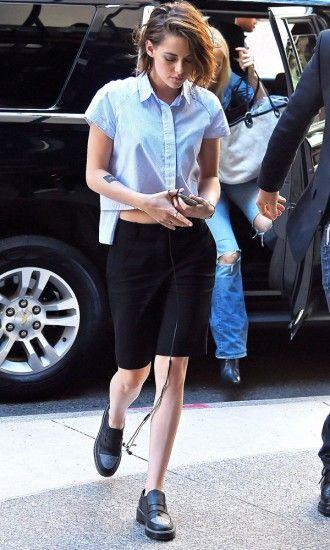 Kristen Stewart Works Summer Tailoring