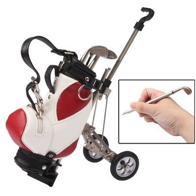 EJ Synthetic Leather Golf Trolley Design Pen Holder with 3 Golf Gear Shaped Pens: Bid: 22,47€ Buynow Price 22,47€ Remaining 09 dias 04 hrs…