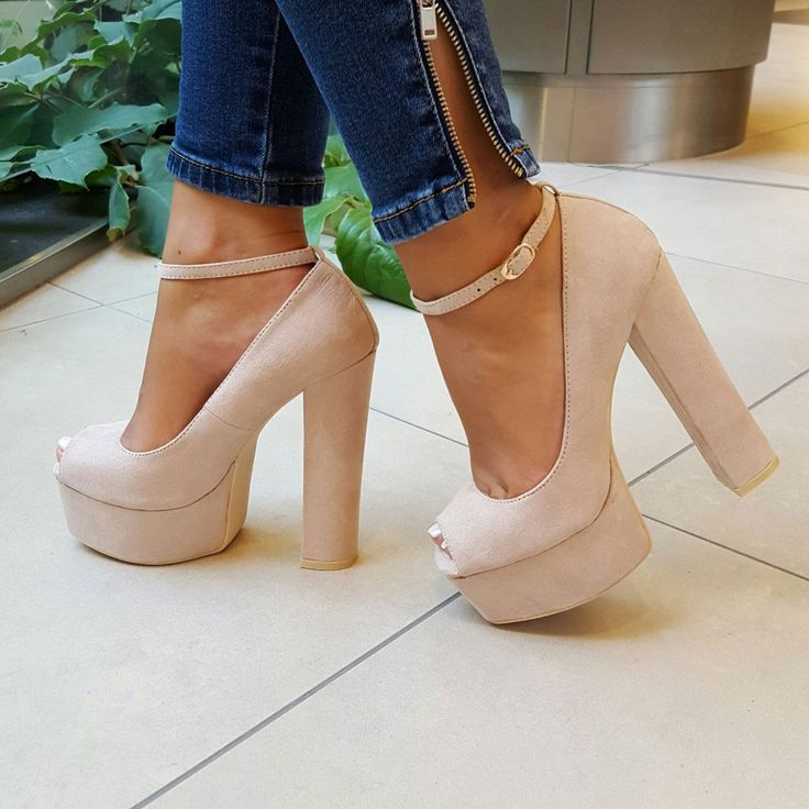 pantofi cu toc si platforma