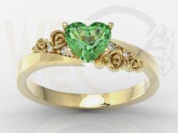 Pierścionek z żółtego złota z topazem i cyrkoniami / Ring made from yellow gold with topaz and zircons / #jewellery #ring #gold #zircons #topaz #pierscionek #bizuteria
