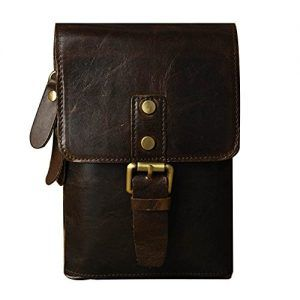 Bolso de cuero cintura / riñonera de piel - DeCueroOnline.com