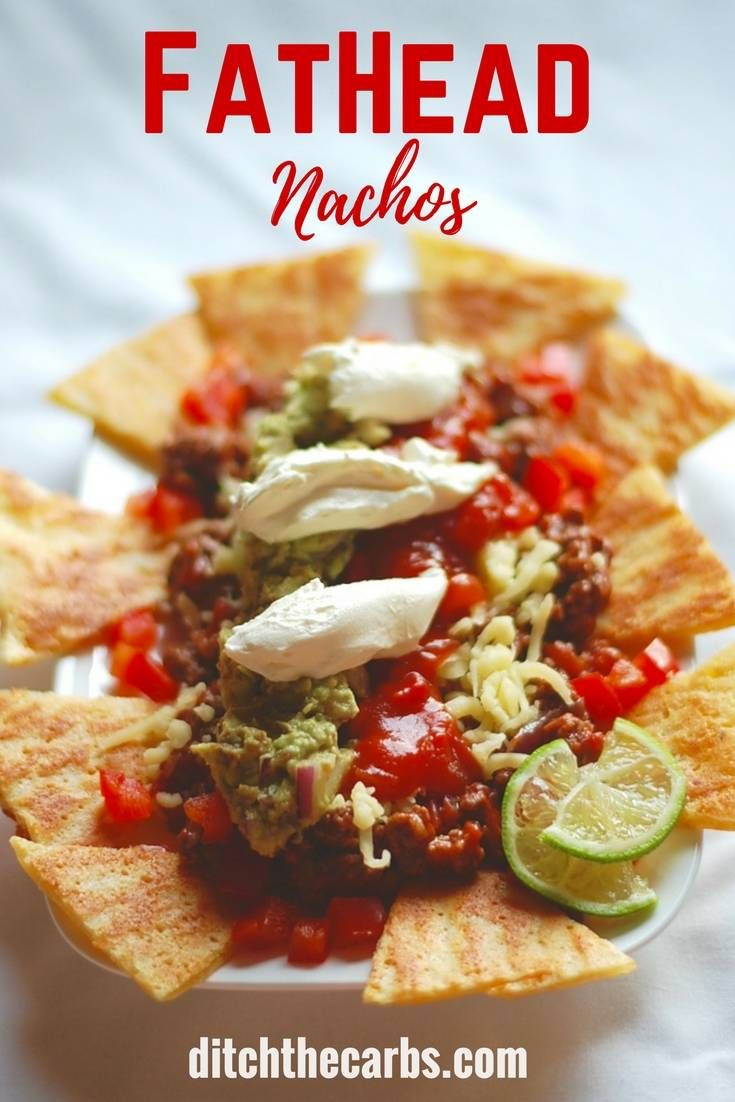 FatHead nachos. Absolutely a stroke of genius. Low carb, grain free nacho heaven. | ditchthecarbs.com via @ditchthecarbs