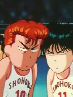 SLAM DUNK: Hanamichi Sakuragi and Kaede Rukawa