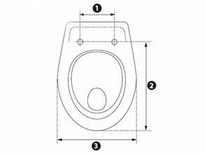 Как измерить размер крышки унитаза