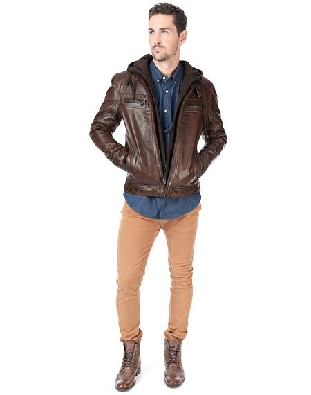 Danier leather bomber jacket