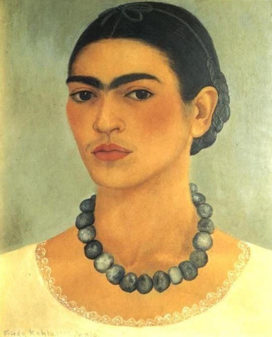 Self Portrait With Necklace ~ Frida Kahlo