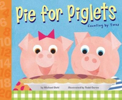 Two piglets prepare a pie counting the ingredients by twos.