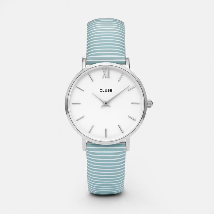 Minuit Silver White/Sky Blue Stripes CL30028