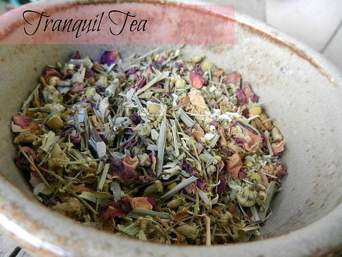 How To Make Your Own Tranquil Tea Blend - Bulk Herb Store Blog (I plan to add blue vervain, spearmint and stevia as well, in this blend)