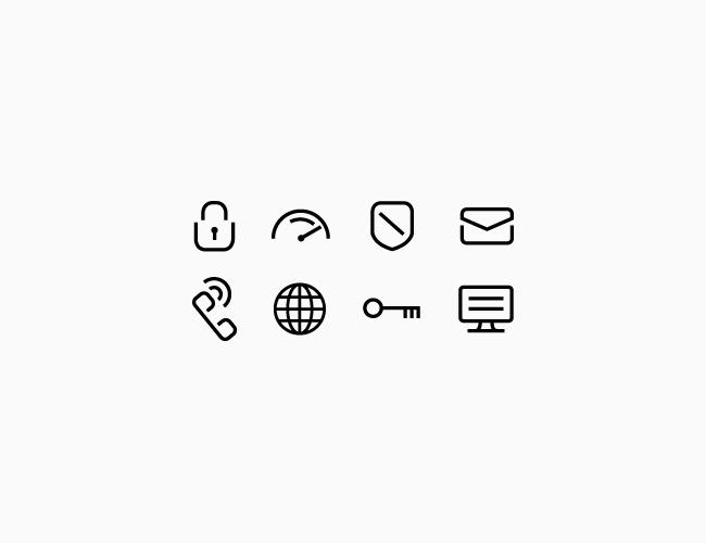 Logo Design By Richard Baird IVPN Icons