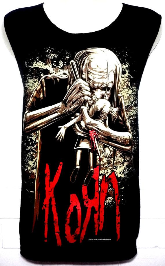 KORN Rock Band Music Metal T Shirt Tank Top par BestRockShirts, $12.90