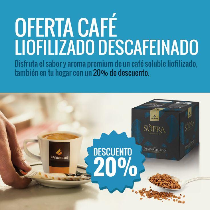 Oferta Café Liofilizado Descafeinado. #CafésCandelas
