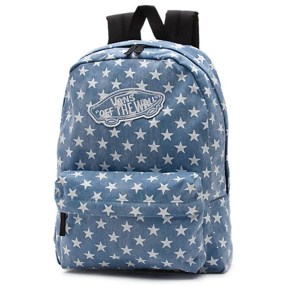 Vans Denim Stars Realm Backpack. This my backpack for school and I absolutely love it!