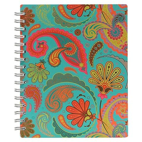 Carolina Pad 8.5x7 Arabian Nights College Ruled Poly Pocket Notebook