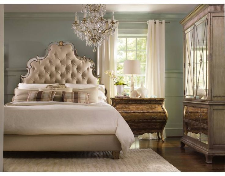 Perfect Sanctuary King Tufted 4 PC Bedroom Set   Bling | Hooker Furniture | Star  Furniture |