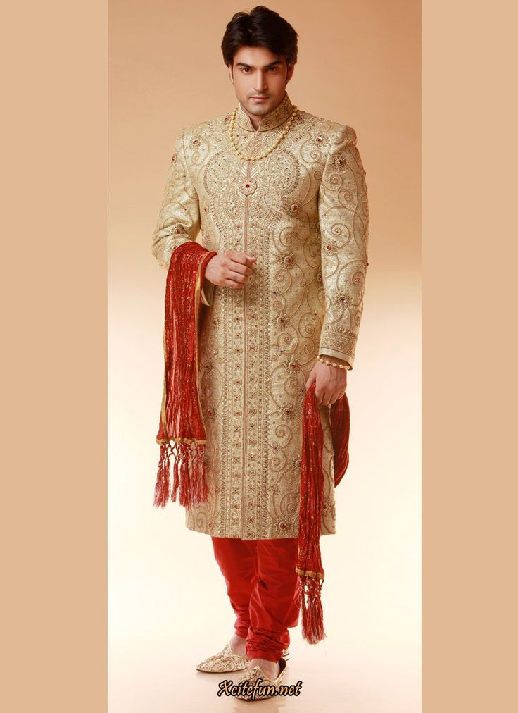 8 best groom indian suit images on pinterest boyfriends for Wedding dress shirts for groom