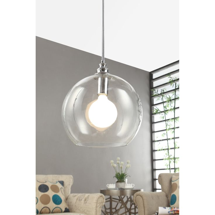 A couple of these in a kitchen? Yes. (Uptown Clear Globe 1-light Chrome Pendant | Overstock.com)