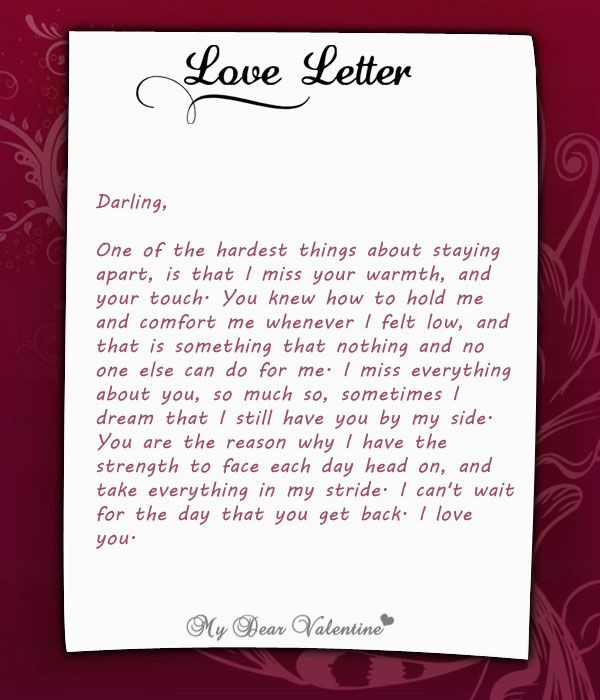 Best  Love Letter To Her Ideas On   Romantic Letters