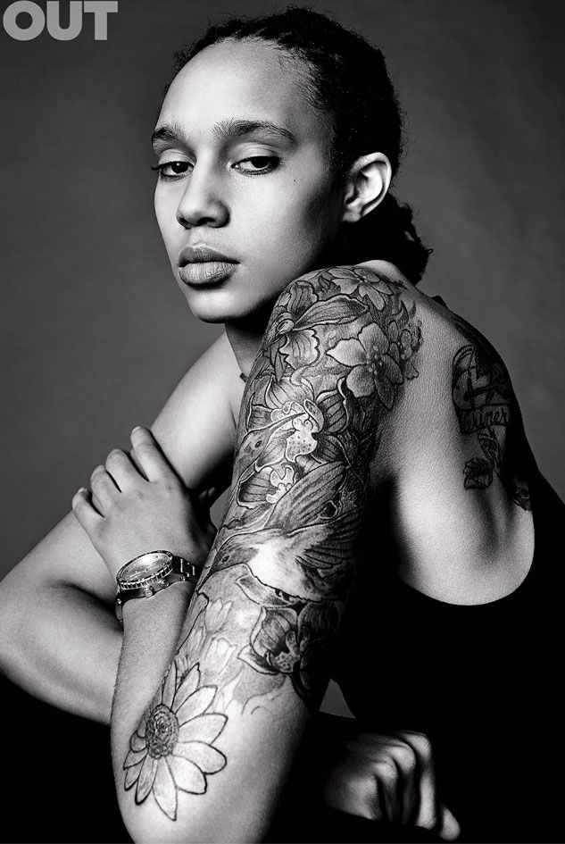 Brittney Griner (Pro WNBA player) OUTMagazine 100 of 2013