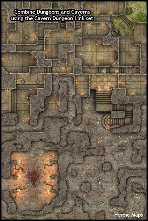 Heroic Maps Geomorphs Cavern Dungeon Link Heroic Maps