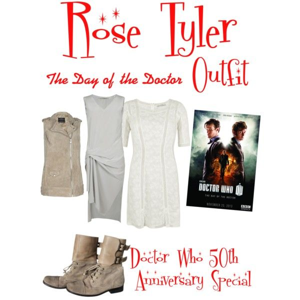 """Doctor who The Day Of the Doctor Rose Tyler Outfit"" by clararycbar on Polyvore"