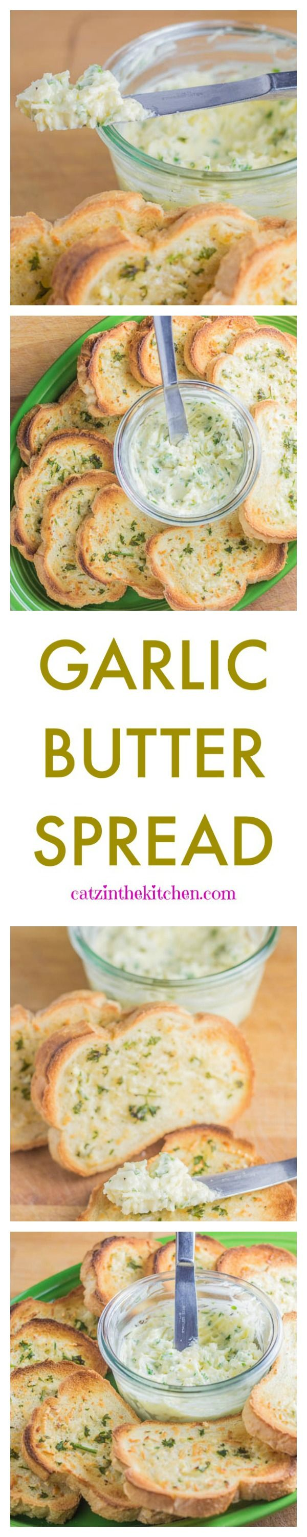 Super easy, cheap, and delicious Garlic Butter spread recipe.