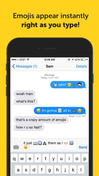 Emojimo is a Emoji Keyboard App That Inserts Icons as You Type #mobile trendhunter.com