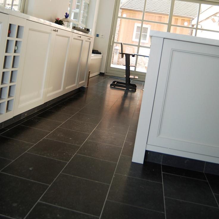 Belgian bluestone dark blue honed tiles for Bluestone flooring interior