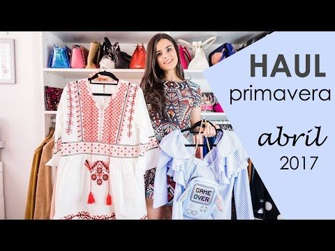 Vídeo haul abril Moda, Youtube - Crímenes de la Moda